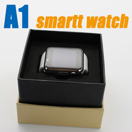 Wholesale Dial Silicone Watches - A1 Smart Watch Bluetooth Smartwatch Phone Support SIM TF Card Smart Watches With Silicone Strap Smartphone for HTC VS DZ09 U8 GT08