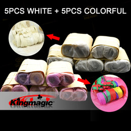 Wholesale Streamers Throws - Wholesale- Throw Streamers Spider Thread 16heads 10pcs Stage Magic Accessory Magicians Magic Tricks Gimmick Free Shipping