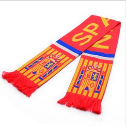 Wholesale Wholesale Ball Fringe - Custom Knitted Stadium Scarves Winter Acrylic Jacquard Weave Scarves With Fringe For Sports Ball Game Fans