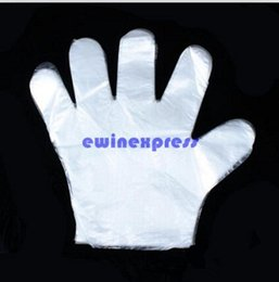 Wholesale Disposable Hairdressing - Cleaning Gloves Transparent Washing Gloves Disposable Gloves for Hairdressing Washing Hair Food Handling Cleaning Gloves Free Shipping
