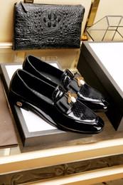 Wholesale Carved Wedge Shoes - 2017 Italian Men Shoes Genuine Leather Mens Dress Shoes Sales Carved Designer Wedding Male Oxford Shoes Men Flats