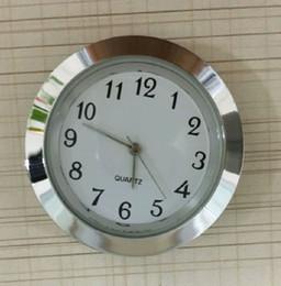 Wholesale Wholesale Clock Inserts - 37mm competitive quality clock silver metal fitups insert clock arbic numerals mini insert clock
