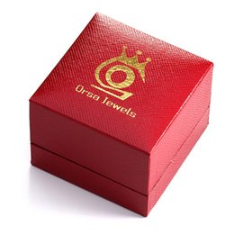 Wholesale Package Decorations - ORSA Jewelry Fashion Jewelry Package for Ring Gift Box Jewelry Boxes With Red Color Present Decoration