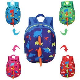 Wholesale Dinosaur School Backpacks Kids - Dinosaur Kids Bags Backpack Cute Cartoon Animal Printing Children Backpacks for Boy Girls Kindergaden School Backpacks