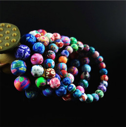 Wholesale Adorn Strands - Polymer clay flower bracelet fashion bead bracelets women and male national wind restoring ancient ways adorn bracelets 3023