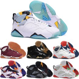 Wholesale North Blue - Wholesale Retro 7 Basketball Shoes Men 2016 North blue N7 Boots High Quality Sneakers For Sale Cheap Sports Shoes Free Shipping 41-47