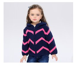 Wholesale Plush Cardigan - Boys and girls fall and winter 1-6 year-old thickening out clothing long-sleeved zipper cardigan comfortable plush warmth jacket