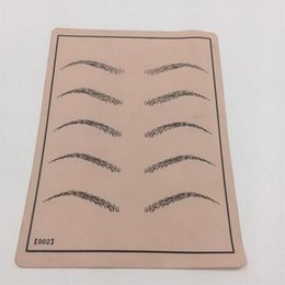 Wholesale Cosmetic Makeup Practice Skins - Professional Cosmetic Permanent Makeup Eyebrow Tattoo Practice Skin Supply fake eyebrow tattoo practice skin for microblading