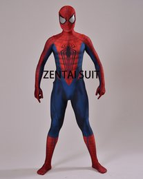 Wholesale Men Hot Costume - 2016 Spiderman Costume 3D Print Cosplay Zentai Suit Spandex Male Comic Spider-man Superhero Costume Custom Made Hot Sale free shipping