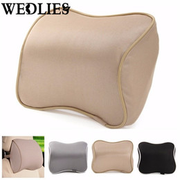 Wholesale Lumbar Support Pad Cushion - Wholesale- Memory Foam Office Auto Seat Neck Pillow Head Rest Cushion Lumbar Protection Pillow Support Headrest Pad Home Textiles Supplies