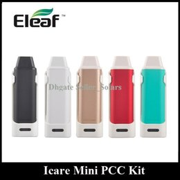 Wholesale Usb Multi Micro Mini - Original Eleaf Icare Mini PCC Kit 320mAh 2300mAh Built Lipo Capacity with Micro USB Charging DHL EMS Free