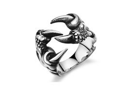 Wholesale Cheap Wholesale Animal Charms - New Domineering African Personality Men's Titanium steel ring Fashion Charms Cheap Nice Gift Jewelry Wholesale Hot Rings factory direct