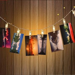 Wholesale Mini Solar Powered Led Light - 2.5M Mini 20 led clip string lights battery Power Christmas lights new year party wedding home decoration fairy lights