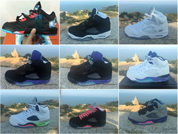 Wholesale Cheap Hot Shoes Online - Wholesale Online Discount Retro 5 Metallic Raging Bull Oreo V Men Cheap Basketball Shoes Sneakers 2016 Hot Shoes Sizes 36-47 For Sale