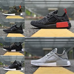 Wholesale Mesh Bottom - New arrival NMD XR1 Duck CAMO BA7232 REAL BOOST Bottom With Nipples NMD_XR1 Camo NMD BA7232 Mens Running Shoes Box Receipt Keychain 36-45