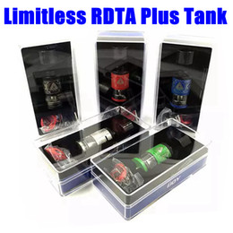Wholesale Free Decks - IJoy Limitless RDTA Plus Tank Clone 6.3ml Top Quality Vaporizer Atomizers 25mm Diameter 2 Post Velocity 2 Deck Airflow Control e cigs Free