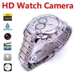 Wholesale Spy Watches 4gb - Waterproof Spy Watch Full HD 1080P IR Night Vision DVR Hidden Camera Camcorder 16GB 8GB 4GB Audio Video Recorder