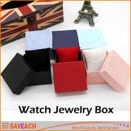 Wholesale Crafts Presents - Practical Jewelry Box Present Gift Boxes for Bracelet Bangle Necklace Earrings Watch Case with Foam Pad Free Shipping