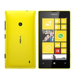 "Wholesale Lumia Phones - Original Nokia 520 Lumia Refurbished Mobile Phones Dual Core Windows 512MB 8GB 3G 4"" IPS WIFI GPS Unlocked Smartphone Cellphone"