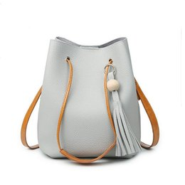 borsa famosa della signora coreana Sconti All'ingrosso- Nappa borsa per le donne borsa famosa marca borsa delle signore borsa delle donne borsa secchiello di alta qualità coreano Messenger Borse Bolsas