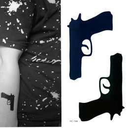 Wholesale Tattoos Hand Guns - New Arrival Hot Sale Waterproof Tattoos Gun Design Great Quality Body Art Tattoos Stickers Free Shipping