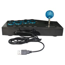 Wholesale Arcade For Xbox - 2017 Best Selling USB Wired Game Controller Arcade Fighting Joystick Stick for PS3 Android Computer PC Gamepad