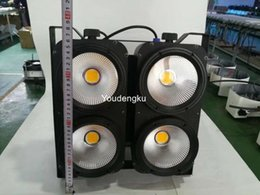Wholesale Audience Lights - Wholesale- 3200K-5600K adjustable 4 eyes 4X100W warm white cool white cob stage led audience blinders light