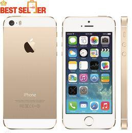 "Wholesale Original Apple Accessories Wholesale - Apple iphone 5s without fingerprint original LTE Smartphone 4.0"" 1GB RAM 64GB ROM 8MP 1136*640 IOS Multi language refurbished cellphone"