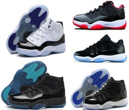 Wholesale Navy Blue Glitter Shoes - 2018 man basketball shoes 11s 11 XI Citrus 72-10 white Olympic Concord Gamma Blue Varsity Red Navy Gum Sneaker Metallic Gold sneakers