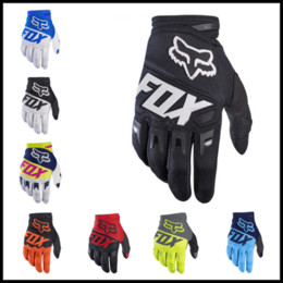 Wholesale Gloves For Bikes - Fashion 9 Colors FOX Cycling Gloves Dirtpaw Rockstar Winter Warm Full Finger Gloves for Ski Bike Snowboard