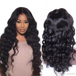 Wholesale Full Lace Wig Deep Wave - 180 Density Human Hair Lace Wig For Black Women Loose Deep Wave Full Lace Wigs Glueless Virgin Malaysian Lace Front Human Hair Wigs