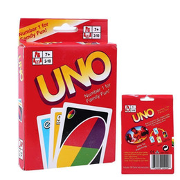 Wholesale Puzzle Card Games - UNO Poker Card Family Fun Entermainment Board Game Standard Edition Kids Funny Puzzle Game Christmas Gifts