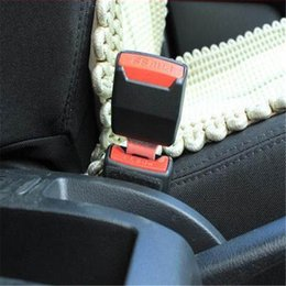Wholesale Universal Colour - 2Pcs   Set Newest Universal Car styling 2 Colours Choosen Car Auto Supplies Seat Belt Clip Safety Belts Buckle With Plug order<$18no track