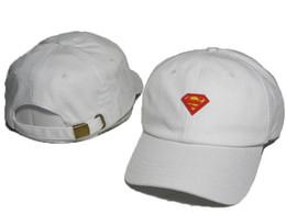 Wholesale Baseball Caps Marvel - Cheap Superman Marvel Cotton Summer Hats For Men Cartoon Cool Brand Designer Hip Hop Baseball Cap Women Golf Hat Sports Casquette DDMY