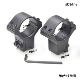 Wholesale 11mm Dovetail Rail - AloneFire 1pair 30mm Scope Mount Rings Optical Sight Bracket Dovetail 11mm Rail Scope Mounts Low Profile For Outdoor Hunting M3601-1