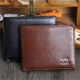 Wholesale Black Patent Wallet - 2016 Export New Fashion Men Bifold 2 Fold Black Coffee Color Optional Quality Pu Leather Designer Card Holder Purse Wallet Free Shipping