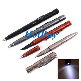 Wholesale Tactical Multi Pen - LAIX B007-2 Multi-function Self Defense Protection Tactical Pen with High Brightness LED #3838