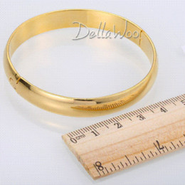 Wholesale 9mm Bulk - High Quality 9mm Yellow Gold Filled Smooth Bangle Openable Bracelet GF Womens Girls Bulk Sale Gift Jewelry DBL1116