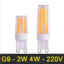 NOVA G9 Lâmpada LED 2 W 4 W 220 V 230 V 240 V Filamento LEVOU G9 Lâmpada Regulável Lampada Luzes LED Lustre Substituir Lâmpada Incandescente de