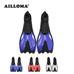 Wholesale Swimming Fins Snorkeling - AILLOMA Professional Adults underwater Diving Equipmennt Flipper TPR soft rubber Longblade Powerful Fins for Snorkeling swimming