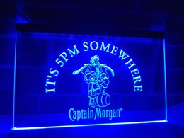 Wholesale Captain Morgan Neon - LA467b- IT's 5 pm Somewhere Captain Morgan LED Neon Sign