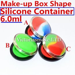 Wholesale Shaped Containers - Newest Make-up silicone containers Box Shape Wax Containers silicone box 6ml Silicon container food grade wax jars dab silicone container
