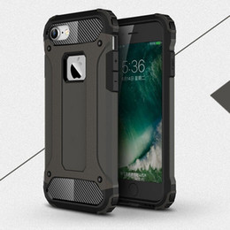 Wholesale Iphone Wholesalers Ca - S7 S7 edge s6 s6 edge Hard heavy duty plastic + silicone armor case for iphone 7 7 plus pc TPU dual layer 2 in 1 shockproof covers rubber ca
