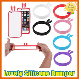 Wholesale Metal Wallet Frame - Universal Soft Silicone Phone Bumper Frame Cover Case Bracelet For iPhone 5 5S SE 6 6S Plus Samsung S5 S6 S7 Edge