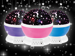 Wholesale Christmas Projection Lamp - LED Rotating Star projection Lamp Monkey Moon&Stars Night Light Christmas Gift For Children 6 Patterns can selected