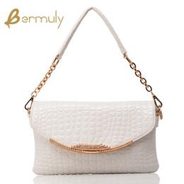 Wholesale Wild Fashion Hand Bags - European and American fashion wild crocodile pattern handbag chain handbag shoulder messenger bag hand bag clutch bag female fashion leather
