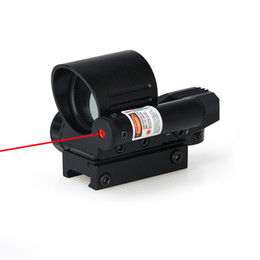 Wholesale Tactical Reticle Rifle Scope - New Arrival Tactical Red Dot Scope 4 Reticle Red Dot Scope With Red Laser Sight For Hunting CL2-0100