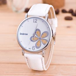Wholesale Watches Ol - Fashion white Jinhua watch commuter OL wind girl Watch clover exquisite quartz watch
