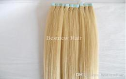 # 24 renk Ucuz Hint Saç Remy Dikişsiz Cilt Atkı Mavi Bant İnsan Saç Uzantıları 100G 40 ADET Sınıf 7A supplier cheap color tape hair extensions nereden ucuz renk bandı saç uzatmaları tedarikçiler