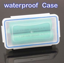 Wholesale Plastic Ring Storage Box - Waterproof With O-ring Plastic 18650 Battery Case Cover Box Holder Storage Container Holder Box For MNKE Sony VTC5 VTC4 18650 Battery